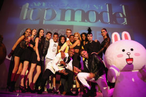 LOS ANGELES, CA - AUGUST 20: Cycle 21 models and Cony attend America's Next Top Model Cycle 21 premiere party presented by NYLON and LINE at SupperClub Los Angeles on August 20, 2014 in Los Angeles, California. (Photo by Rachel Murray/Getty Images for NYLON)
