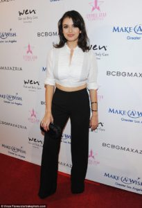 Mature style: YouTube star Rebecca Black went for a more grown up style as she attended the BCBGMaxAzaria Make-A-Wish Fashion Show in Los Angeles
